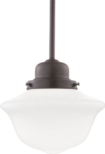 hudson valley lighting edison collection 1light pendant old bronze finish with opal glossy
