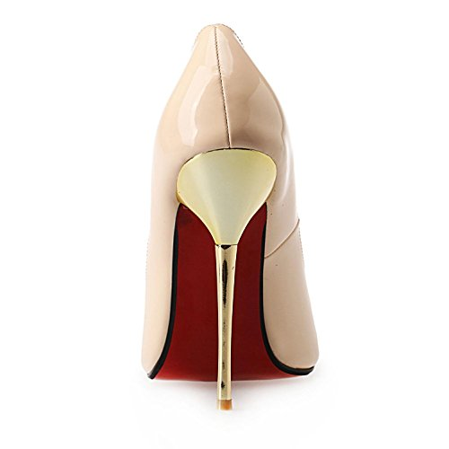 L@YC Women's High Heel Shoes PU Summer Pointed Large 40-50 Basic Pump Sandals For Wedding Dress Light Champagne xSWCl