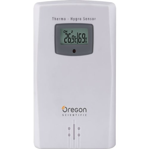 - Oregon Scientific THGR122NX Water Resistant Remote Sensor W/ LCD Display Measures and Displays Humidity & Temperature from -22F to 140F
