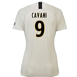 2018-19 PSG Away Womens Football Soccer T-Shirt Camiseta (Edinson Cavani 9)