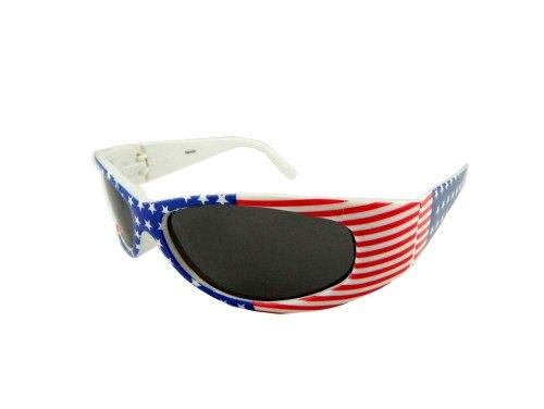 e9c5da5fe76 New American Flag Wrap Around Sunglasses - Red White   Blue - Buy Online in  Oman.