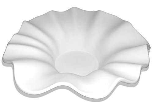 Large Fancy Ruffled Bowl - Fusible Glass Slumping Mold - Ruffled Glass