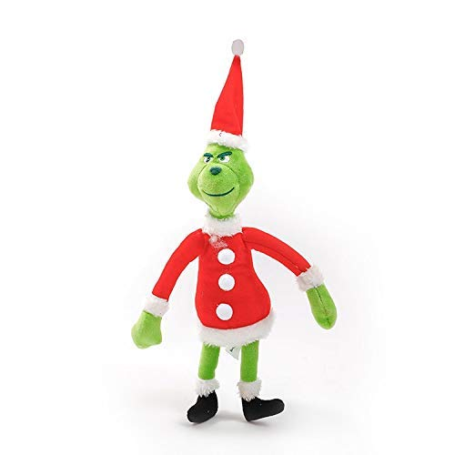 PAPIN Grinch Plush Toy 14 inch Hot Toys Big Large Size Cute Stuffed Stuff Doll Christmas Halloween Birthday Valentine Collectable Gift the Movie Collectible Gifts Mini Small Collectibles for Baby -