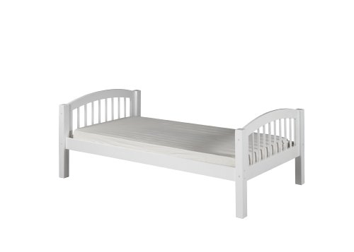 Camaflexi Arch Spindle Style Solid Wood Platform Bed, Twin, White
