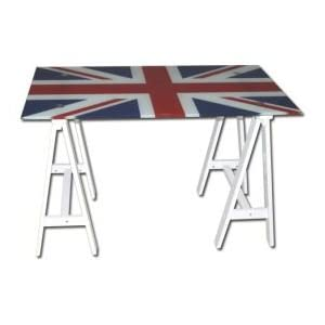 Table relevable drapeau anglais for Table gain de place conforama