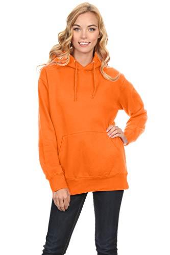 (Simlu Fleece Pullover Hoodies Oversized Sweater Reg and Plus Size Sweatshirts, Orange, Medium)