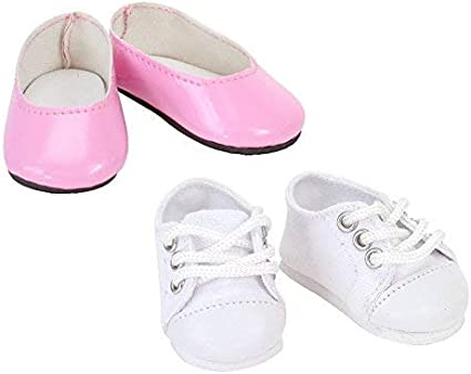 """Tennis Shoes Pink Canvas Sneakers fit 14/"""" Wellie Wishers Size Doll"""