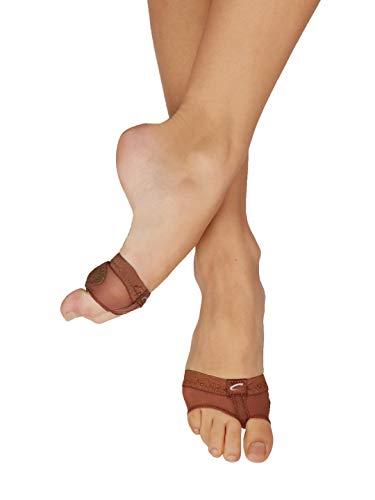Capezio Women's Footundeez Lyrical/Modern Shoe,Espresso,M (US Women's 8-9 M)