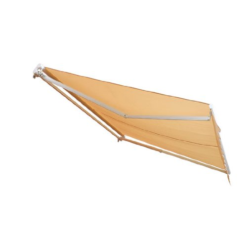 Outsunny Patio Manual Retractable Sun Shade Awning 10 X 8