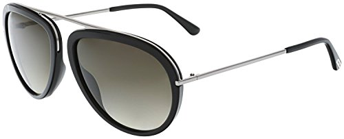 Tom Ford Sunglasses TF 452 Stacy Sunglasses 01K Black Metal 57mm by Tom Ford