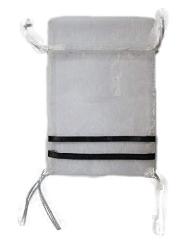 Tzitzis Organza Bags Upsherin Peklach Tzitzit Bar Mitzvah Party Favor Bag (5x8 Inch, 12 Pack)