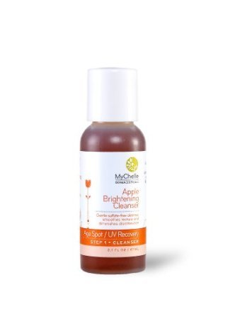 Mychelle Apple Brightening Cleanser, 2.1 Ounce Nourish Organic Apricot Plus Pure Hydrating Argan Face Serum For Normal To Dry Skin, 0.7 Oz, 2 Pack