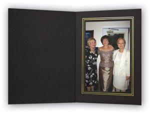 Holder Trim (Cardboard Photo Folder - 5x7 - Pack of 100 Black / Gold)