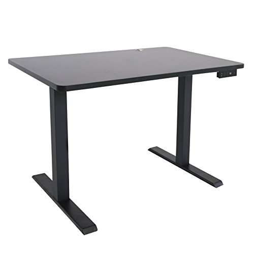 SMART FLEX Electric Height Adjustable Desk w Adjustable Tilt Feature USB Charge Ports – Height Adjustable 29 -49 Tilt Feature 13 degrees-45 degrees