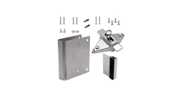 Tph Supply Bathroom Partition Door Fix It Kit Converts Concealed Latch To Slide Latch Operation 111169 Amazon Com Industrial Scientific