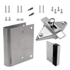 TPH Supply Bathroom Partition Door FixItKit Converts Concealed - Bathroom partition slide latch