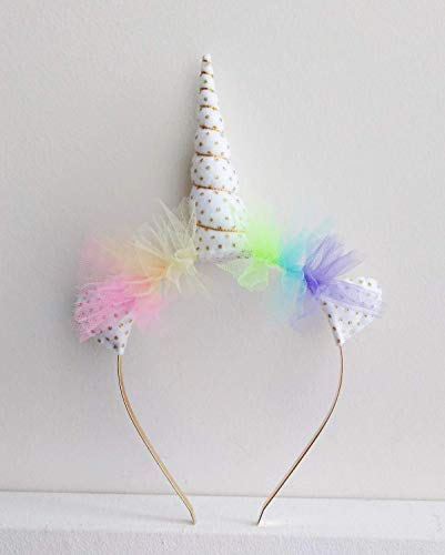 Pastel Rainbow Unicorn Headband