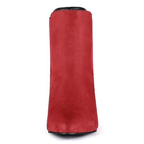 Aguja Bajo Botines Para K Mujer Puntiagudo Tacón Chelsea Rojo Allegra De Punta Hf7qa4w