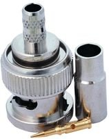 RF Connectors / Coaxial Connectors 3PC PLUG RG58 PLENUM