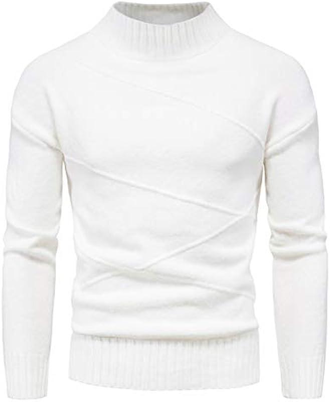 qishi Męskie Pullover Gestreift Strickjacke Męskie Cardigan High Neck Bottoming Shirt: Odzież