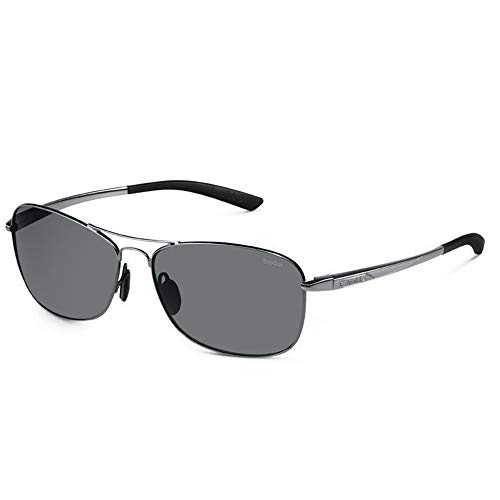 (Bolle Ventura Sunglasses (Polarized TNS Gun, Shiny Black))