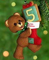 Child's Fifth Christmas Hallmark Ornament 2000 Child's Age ()