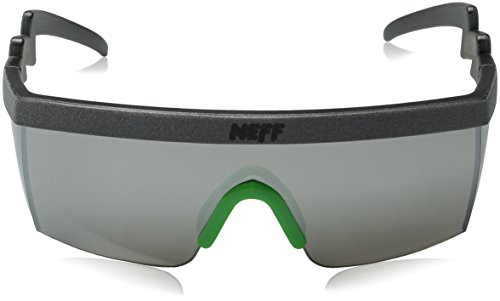 facb5f4840 Neff Brodie Shades Men s Sunglasses with Interchangeable Lenses and Sunglass  Case - 100% UV Protection