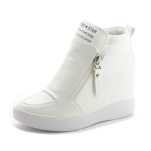 GUNAINDMX Zapatos de tacón Alto Mujer Moda Fringe Mujeres Zapatillas Zapatos de Plataforma Zapatos Mujer Otoño Zapatos white