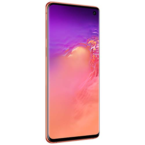 Samsung Galaxy S10 Factory Unlocked Android Cell Phone | US Version | 128GB of Storage | Fingerprint ID and Facial Recognition | Long-Lasting Battery | U.S. Warranty | Flamingo Pink