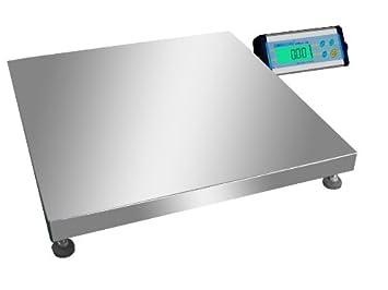 Gran báscula de plataforma acero inoxidable pèse-colis o báscula industrial de 50 x 50 cm - Capacidad 150 kg x 50 G: Amazon.es: Electrónica