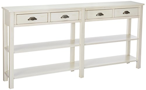 - Powell's Furniture 149-534 Crackle Console, Cream