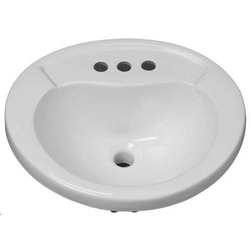 Mirabelle MIRPR454WH Provincetown 20'' Porcelain Drop In Bathroom Sink with Overflow