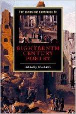 Book The Cambridge Companion to Eighteenth-Century Poetry (Cambridge Companions to Literature) (2001-03-26)