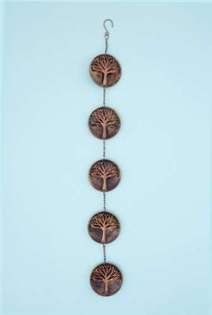 Ancient Graffiti Raised Tree 5 Panel Wall Disc For Sale