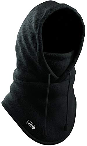Balaclava Fleece Hood - Windproof Face Ski Mask - Ultimate Thermal Retention & Moisture Wicking with Performance Soft Fleece Construction, Black, One Size from Self Pro