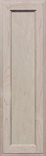 Unfinished Maple Square Flat Panel Cabinet Door by Kendor, 30H x 9W (Flat Panel Cabinet Doors)