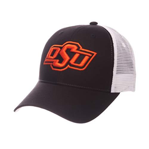 Zephyr Men s Oklahoma State Cowboys Black White Big Rig Adjustable Hat  (OneSize) f062ef942d54
