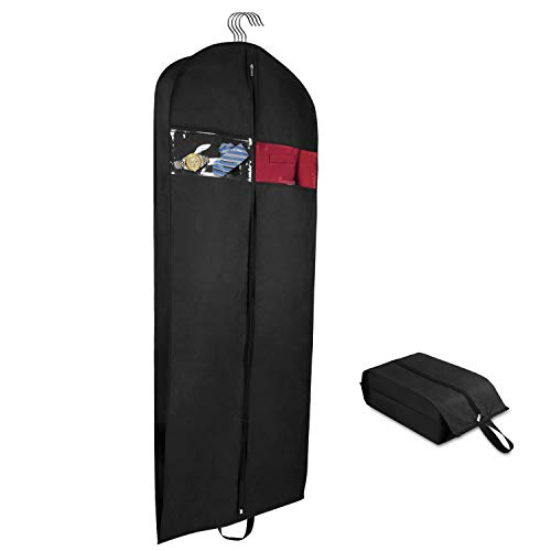Univivi Travel Storage Garment Bag - Breathable Suit Carrier Covers with Clear Window Carry Handle and Shoe Bag (60inch) ...