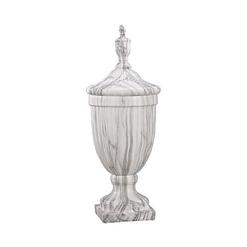 (Elk Neuchatel Ceramic Urn - Small vase, Faux Marble)