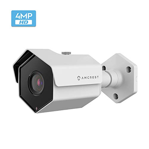 Amcrest ProHD Outdoor 4 Megapixel POE Bullet IP Security Camera - IP67 Weatherproof, 4MP (2688 TVL), IP4M-1026E (White)