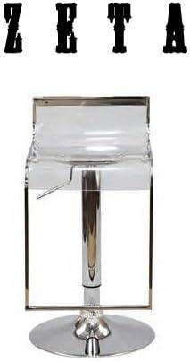 South Mission Zeta Clear Acrylic Contemporary Bar Stool - Single