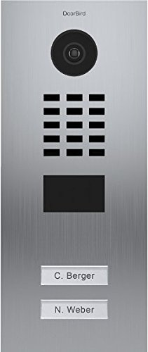 DoorBird IP Video Door Station Flush-mounted, Brushed Stainless Steel Call buttons Multi Tenants - Access Control- POE Capable (Stainless Steel / 2 Call Buttons)