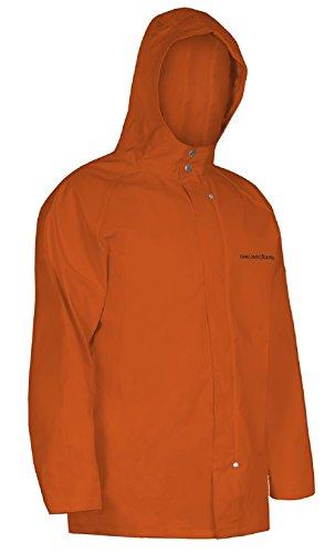 Grundens Rain Gear - Grundens Shoreman Hooded Jacket (L, Orange)