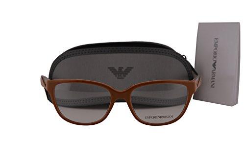 Emporio Armani EA3081 Eyeglasses 52-16-140 Shiny Brown 5511 EA - Arman Emporio