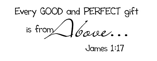 Amazon.com: Every GOOD and PERFECT gift is from above. James 1:17 ...