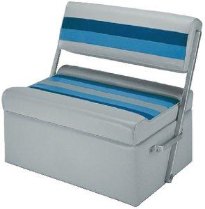 Wise Seats 8WD125FF1011 PONTOON FLIPFLOP LTGRY/NAVY/BL DELUXE FLIP FLOP SEAT ()