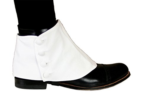 Historical Emporium Men's Premium Cotton Button Spats L (Spats For Shoes)