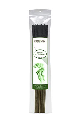 Plant Guru Lemon Eucalyptus Incense Sticks Insect Repellent 185 Grams in Each Bundle 85 to 100, Premium Smooth and Clean, Each Stick is 10.5 Inches Long Burn Time is 45 - Incense Eucalyptus