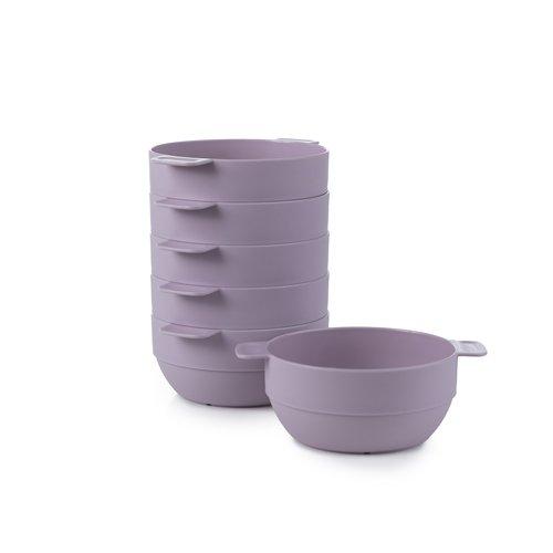 Amuse- Unbreakable & Stackable Bowls < Dessert, Cereal or Ice Cream > - 6 pcs- 16.9 oz (LIGHT LAVENDER)