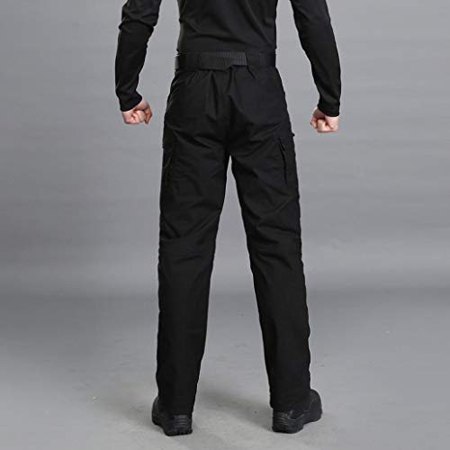 Realdo Hot!Clearance Sale Mens Daily Casual Solid Straight Outdoors Work Trousers Cargo Pants(Small,Black) by Realdo (Image #3)